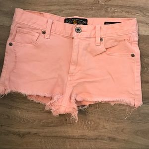 Lucky Brand high rise shortie shorts distressed